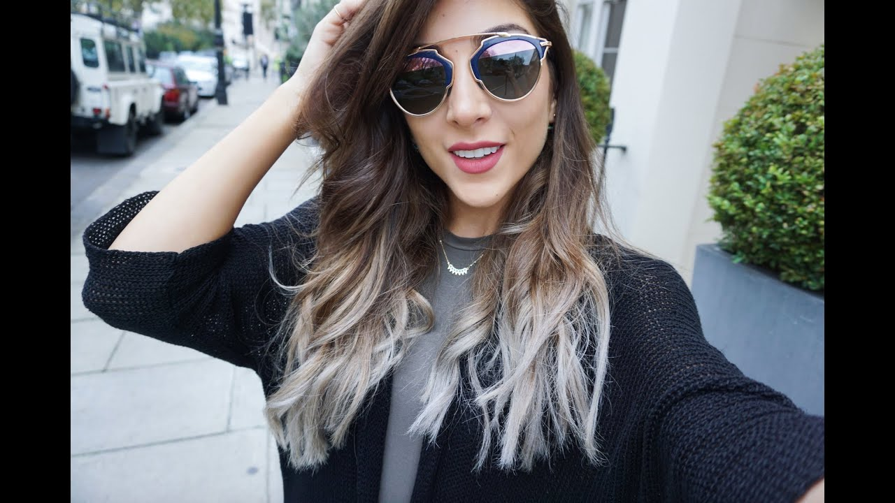 My New Hair Brown To Grey Silver Dip Dye Amelia Liana