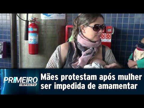 Mulheres protestam em terminal de ônibus que impediu mãe de amamentar   Primeiro Impacto (13/07/18)