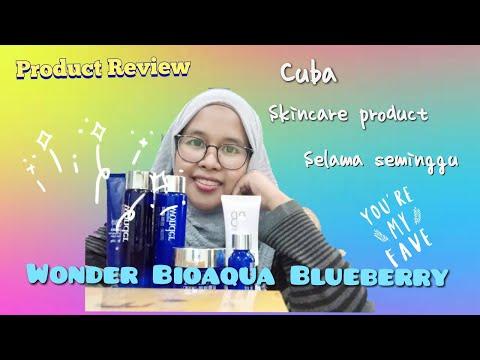 Wonder Aquabio Blueberry Skincare REVIEW!! Apa jadi lepas seminggu?