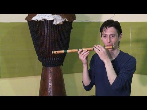 Как играть на флейте из бамбука