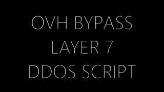 SCRIPT DDOS OVH смотреть видео онлайн - Idbigudi ru