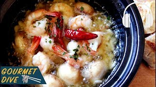 西班牙大蒜蝦/Spanish Garlic Shrimp/エビのアヒージョ | The Sound Of Food
