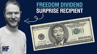 Freedom Dividend recipient gets surprised by Andrew Yang