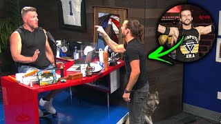 Pat McAfee Was Attacked By Adam Cole During His Show