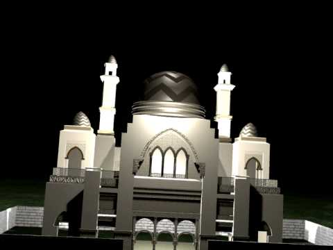 My 3d Max Mosque Model Video Trailer Youtube