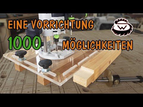 Eine MUST HAVE Vorrichtung für die Oberfräse | WoodSpezi