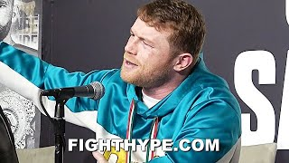 "CANELO ERUPTS ""GET THE F**K OUT OF HERE""; HEATED ALTERCATION WITH ANDRADE AFTER STOPPING SAUNDERS"