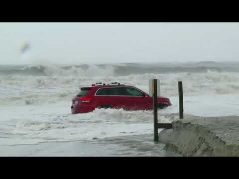 Hurricane Dorian: The story behind that red Jeep abandoned on Myrtle Beach shore