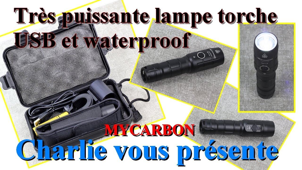 La Tres Puissante Lampe Torche Usb Rechargeable Waterproof De 800