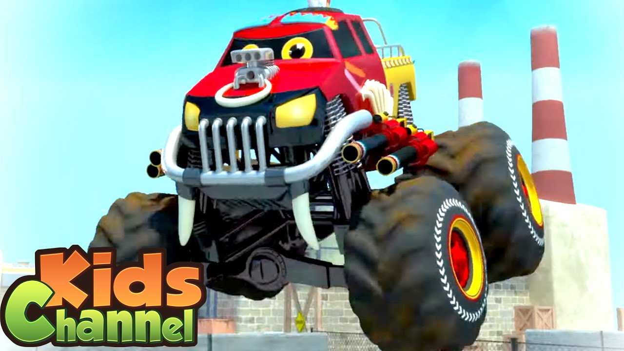 We Are The Monster Trucks | Car Cartoon Videos for Children - Kids Channel