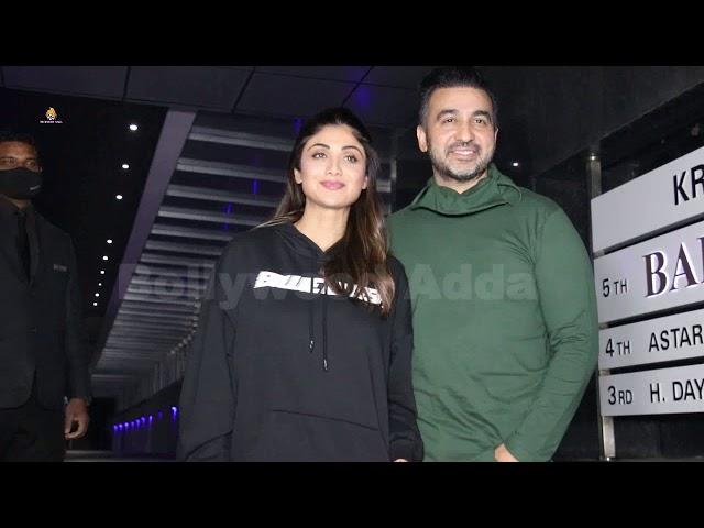 Shilpa Shetty & Raj Kundra spotted at Hakkasan Bandra