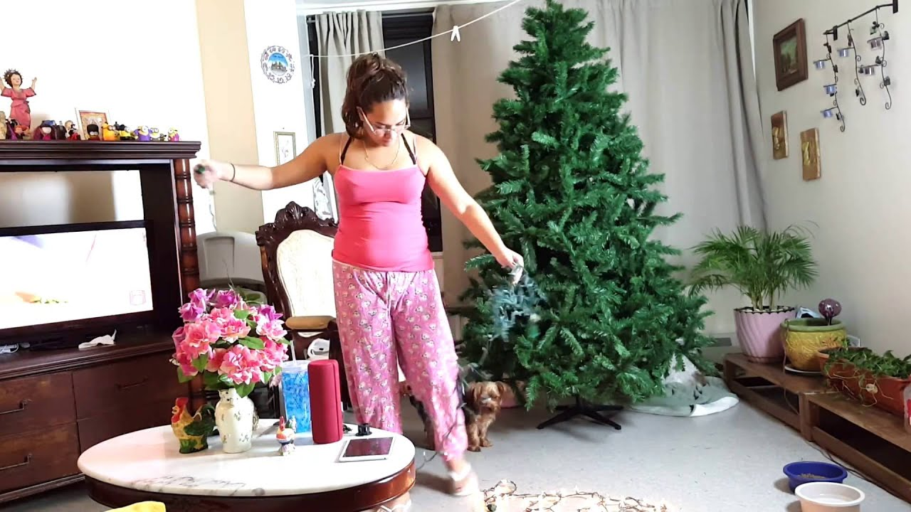 PUTTING UP THE CHRISTMAS TREE!! | Magdary Almonte - YouTube