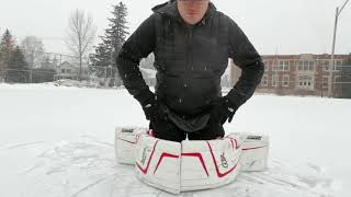 How to butterfly push hockey goalie tips and tricks