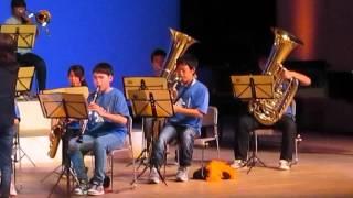 米沢七中のブラスバンド「アメージンググレース」