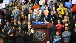 Watch Bernie Sanders campaign at Eastern Michigan University in Ypsilanti