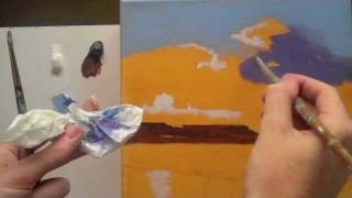 Acrylic landscape painting techniques. Lessons for beginners Part 2