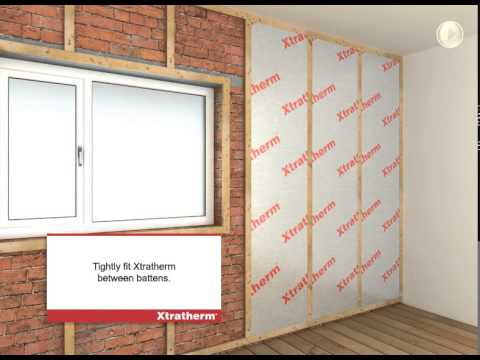 Xtratherm Drylining Mf Between Over Battens Youtube