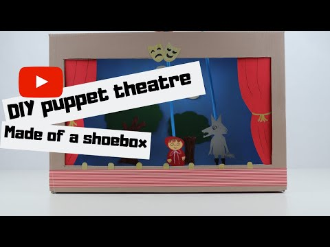 DIY puppet theatre out of a shoebox