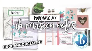 MY IB REVISION NOTES (MY NEW WEBSITE!) | studycollab