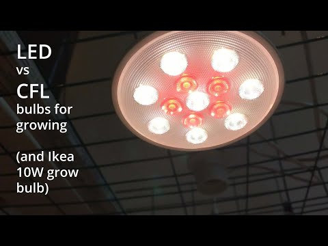 Cfl Vs Led Ikea Grow Light Bulb