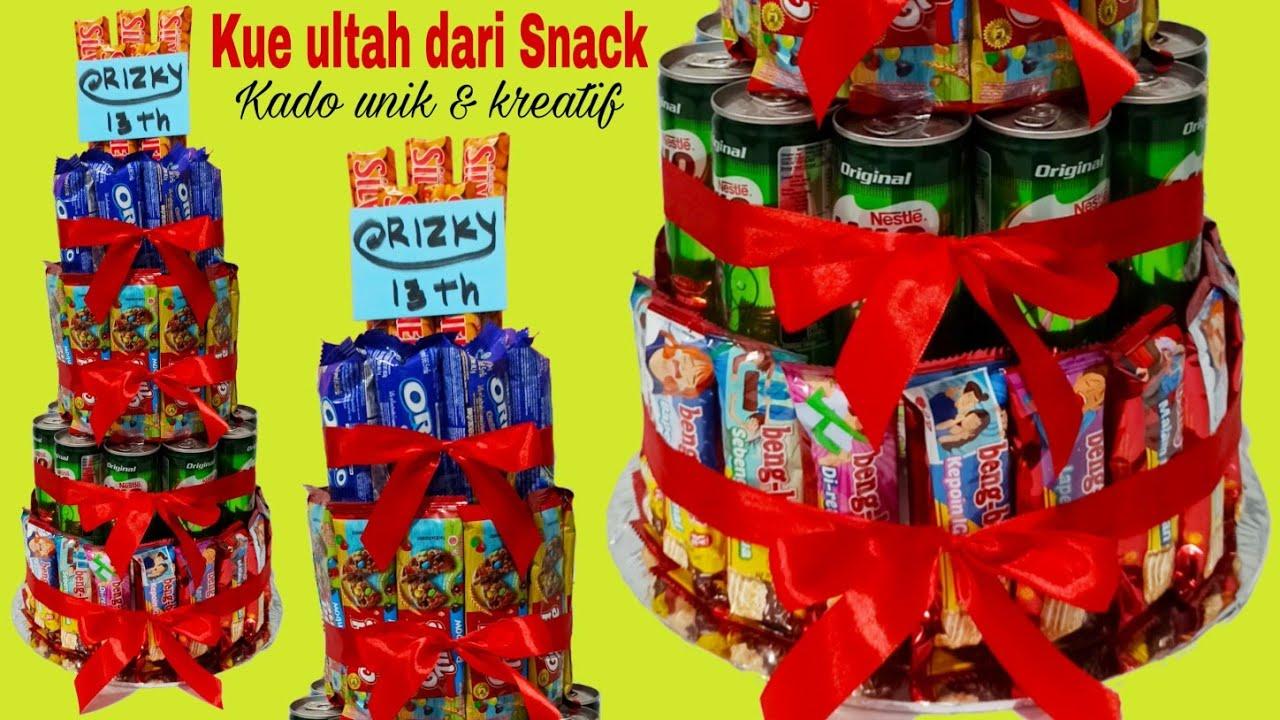 Kue Ultah Dari Snack Kado Ulang Tahun Surprise Ulang Tahun Rizky Ke 13 Youtube