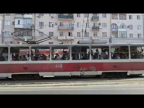 Trams in Ukraine.