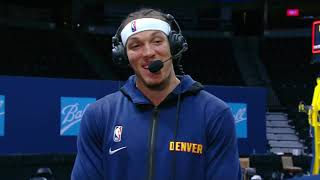 Aaron Gordon Talks About His Nuggets Debut, Postgame Interview - Hawks vs Nuggets | March 28, 2021