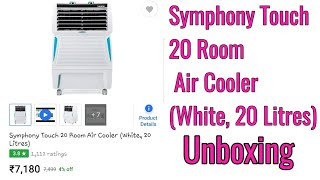 Symphony Touch 20 Room Air Cooler (White, 20 Litres) unboxing