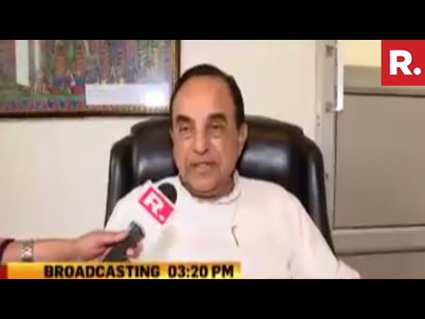 Subramanian Swamy Reacts On Congress Blocking Republic TV Reporters   Exclusive