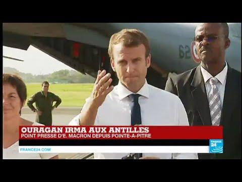 REPLAY - Discours d'Emmanuel Macron à Pointe-à-Pitre après le passage de l'ouragan Irma aux Antilles