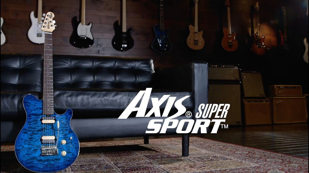 ernie ball music man axis super sport youtube. Black Bedroom Furniture Sets. Home Design Ideas