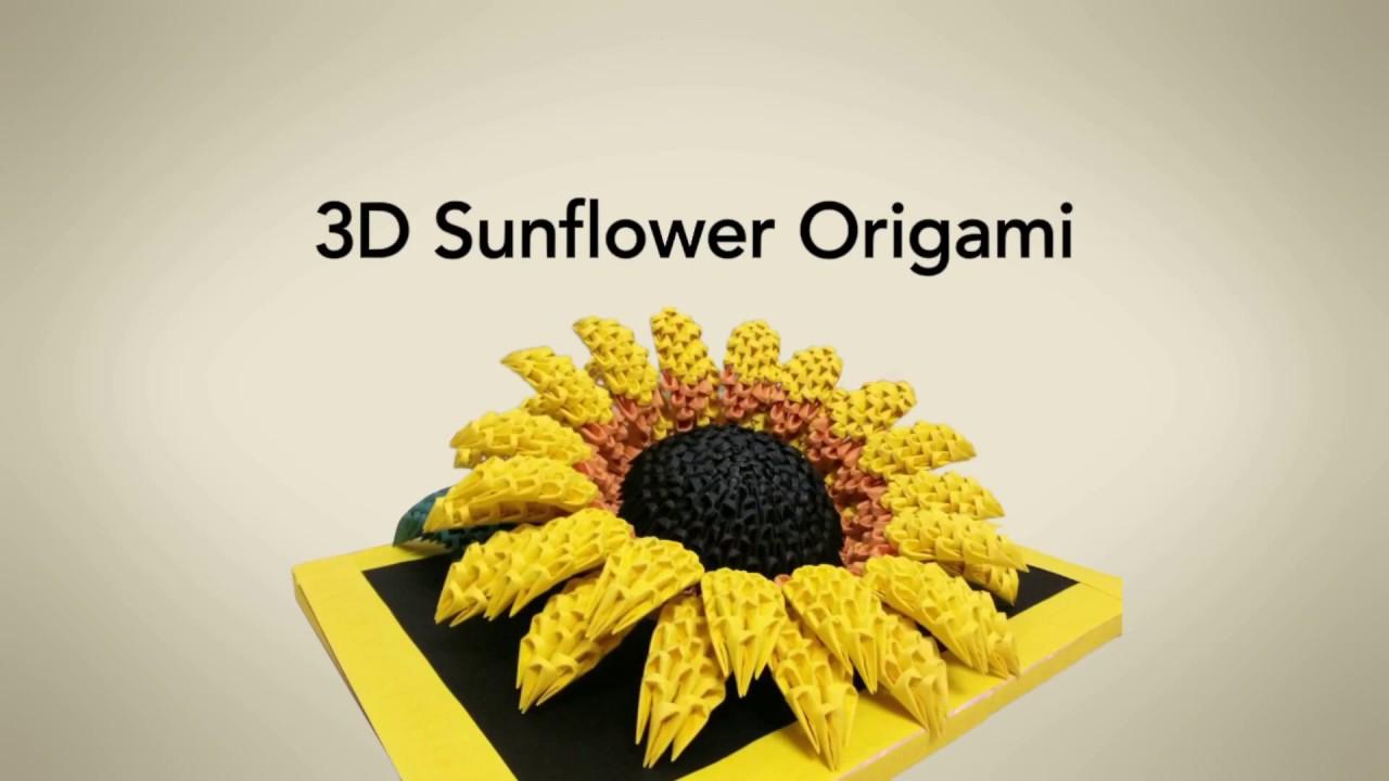 3d origami sunflower girasol origami priti sharma
