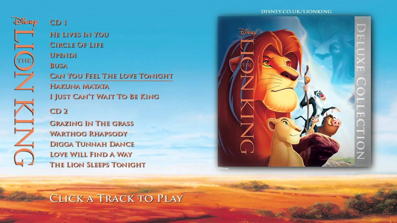 The Lion King Soundtrack Deluxe Edition Album Sampler Youtube