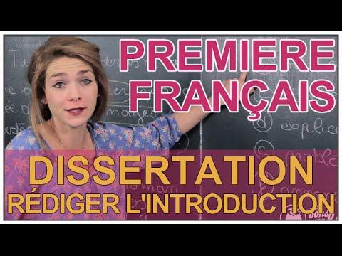Dissertation - Rédiger l'introduction - Français 1ère - Les Bons Profs