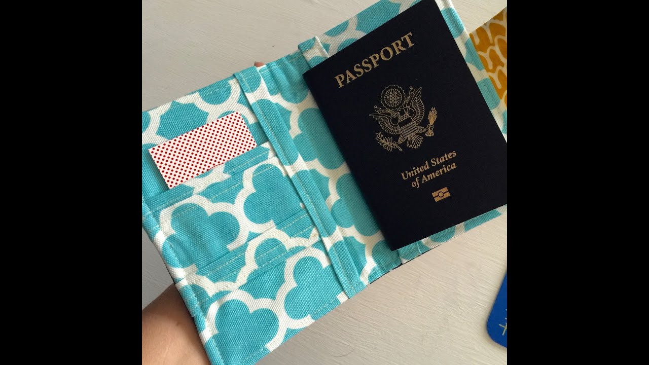 How to sew a passport wallet cover case youtube jeuxipadfo Choice Image