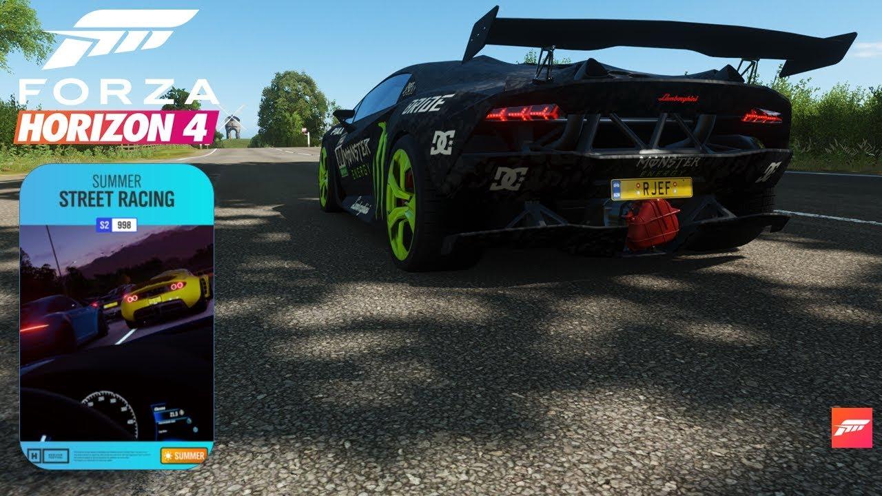 Forza Horizon4-Online Adventure(Lamborghini Sesto Elemento Winter Racing)