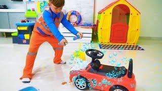 سينيا يغسل السيارات القذرة