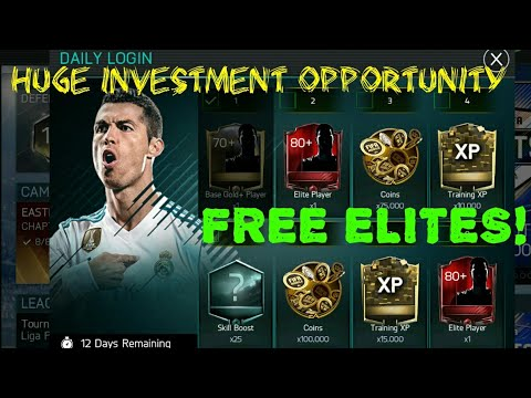HUGE INVESTMENT OPPORTUNITY! FREE ELITES IN NEW DAILY LOGIN IN FIFA MOBILE 18!