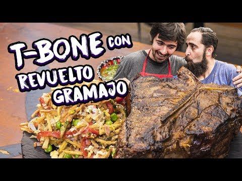 Bife T-Bone con Revuelto Gramajo | Cook & Laucha 2x1
