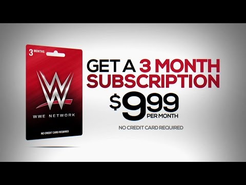 WWE Network Gift Cards Available Now At Walmart