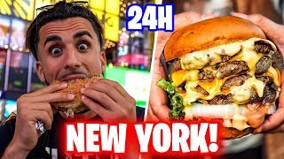 🍔🇺🇸 MANGIO per 24 ORE SOLO HAMBURGER a NEW YORK! *fast food incredibili in America*