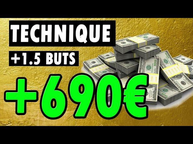 Comment j'ai gagné 690€ sur ma meilleure technique +1.5 buts paris sportifs