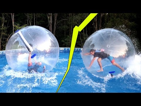 Thumbnail: GIANT WATER BALL ORB! RUNNING on Water / Busting my head..