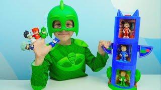 ГЕРОИ В МАСКАХ и пальчиковый театр для детей. Даник герой в маске Гекко. PJ Masks