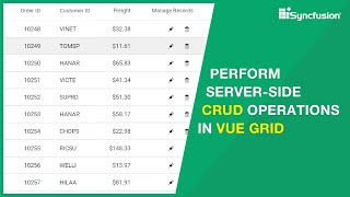 Perform Server-side Crud Operations In Vue Grid