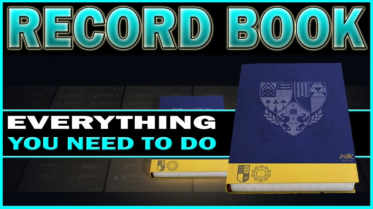 destiny - age of triumph record book! everything you need to do