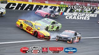 2018 Nascar Cup Crashes (Charlotte 600 -Chicagoland)