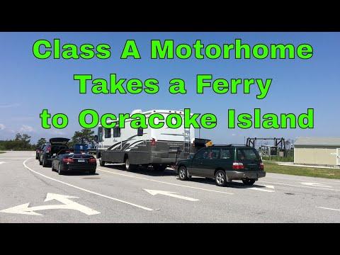 Class A Motorhome Takes a Ferry to Ocracoke Island