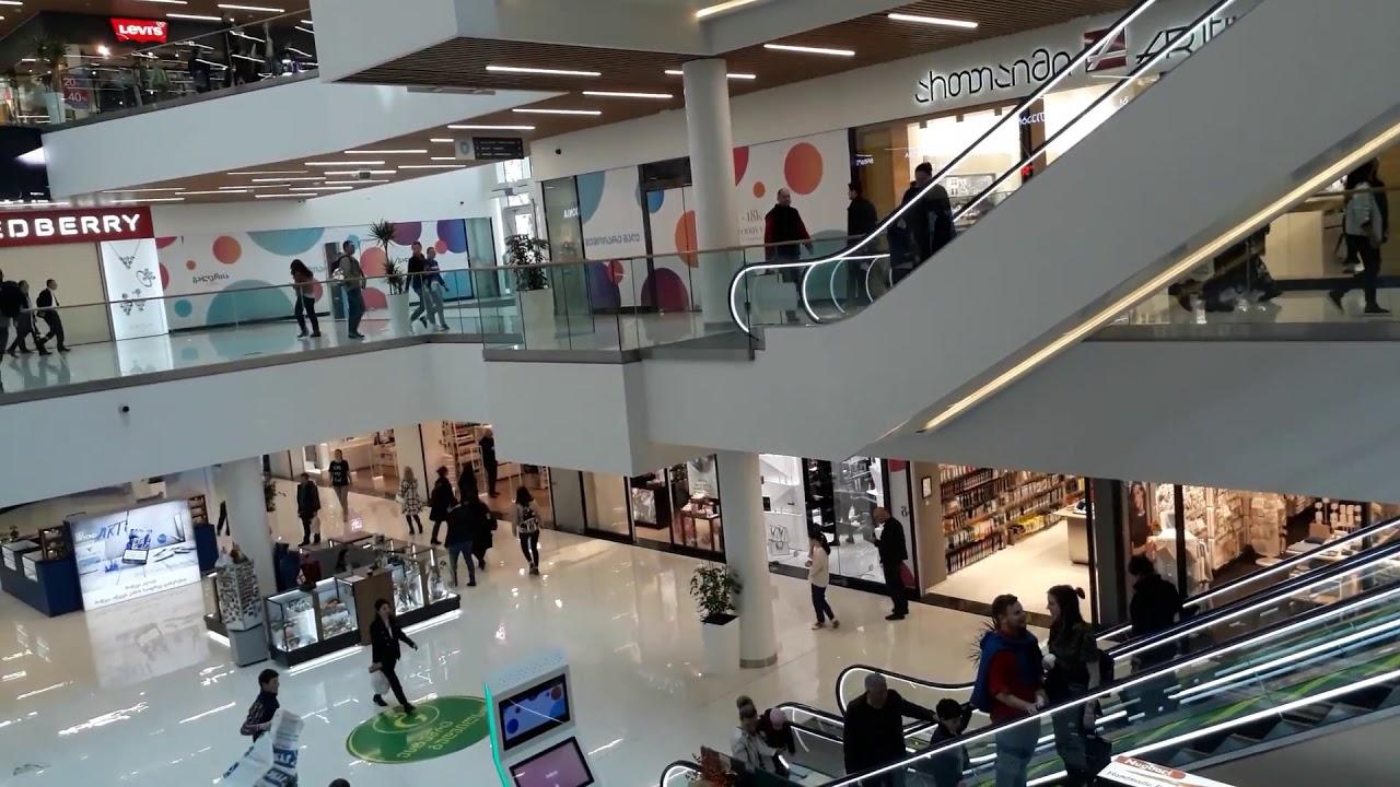 Tbilisi Galleria  Shopping Mall in Center of Tbilisi Georgia 2018 თბილისი გალერეა თბილისის ცენტრი