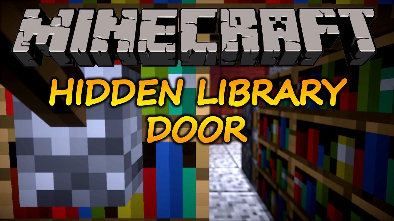 Minecraft How To Make A Hidden Bookshelf Door 1 11 2